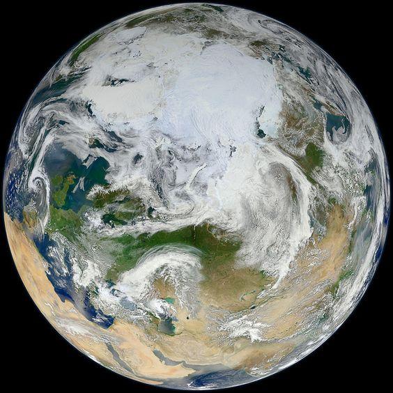 Foto em alta resolução da Terra feita pela Nasa.