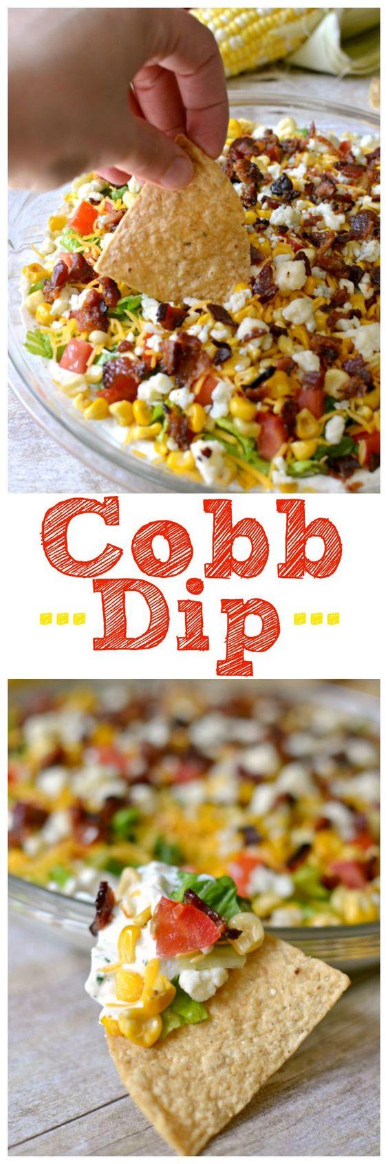 Cobb Dip | Recipe | Dips, Cobb Salad and Salads
