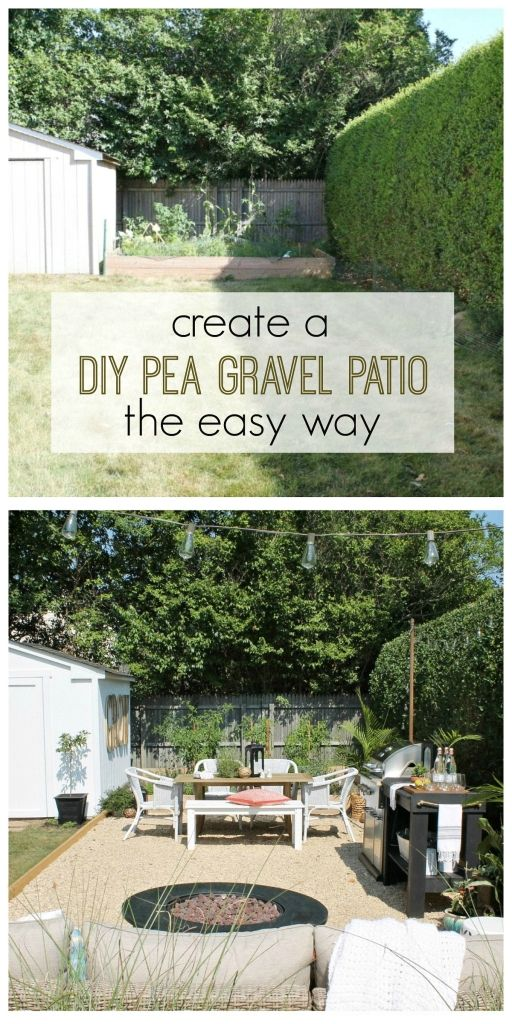 Create a beautiful Hamptons-inspired pea gravel patio with these simple and easy to follow instructions | City Farmhouse