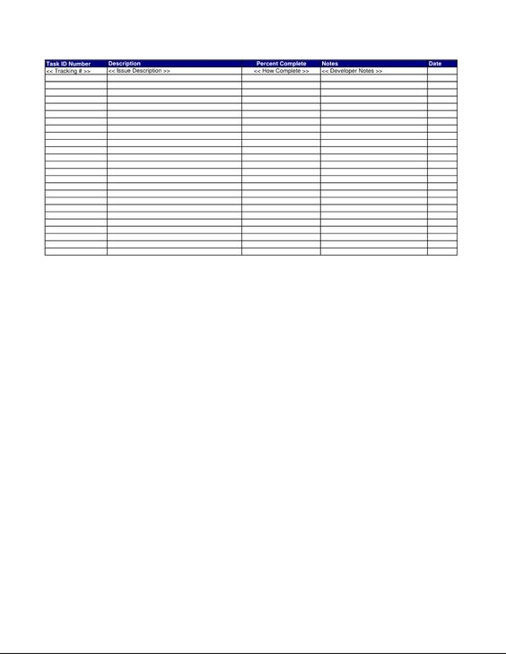 Issue Log Spreadsheet - This is a quick reference checklist of - issue tracking template