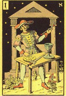 Lasenikův Tarot - Magician:
