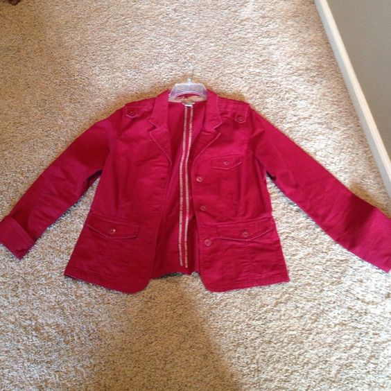 Red Boho old navy jacket Red boho old navy jacket. Very cute, great condition! Old Navy Jackets & Coats Blazers