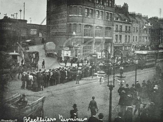 Blackfriars Bridge Tramway Terminus, 1912