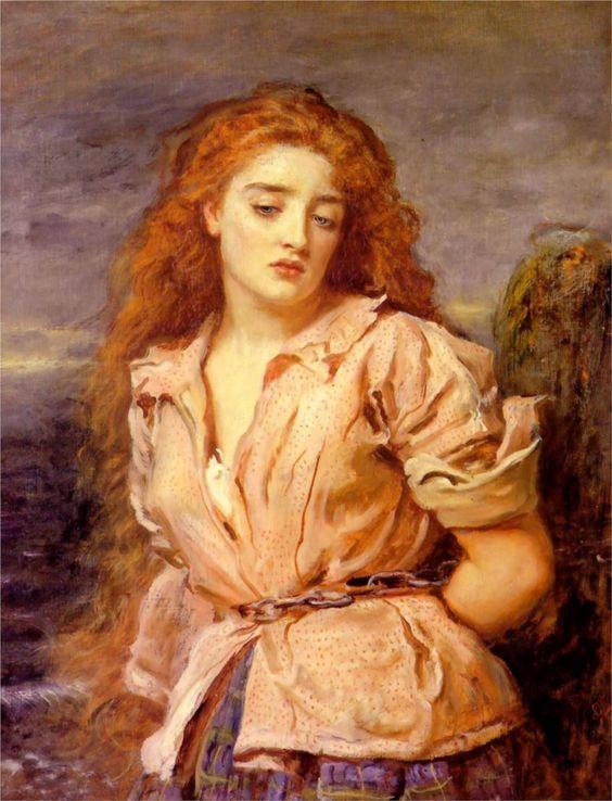John Everett Millais (British 1829–1896) [Pre-Raphaelite] The Matyr of the Solway, 1871. Walker Art Gallery, Liverpool, UK. – The Athenaeum