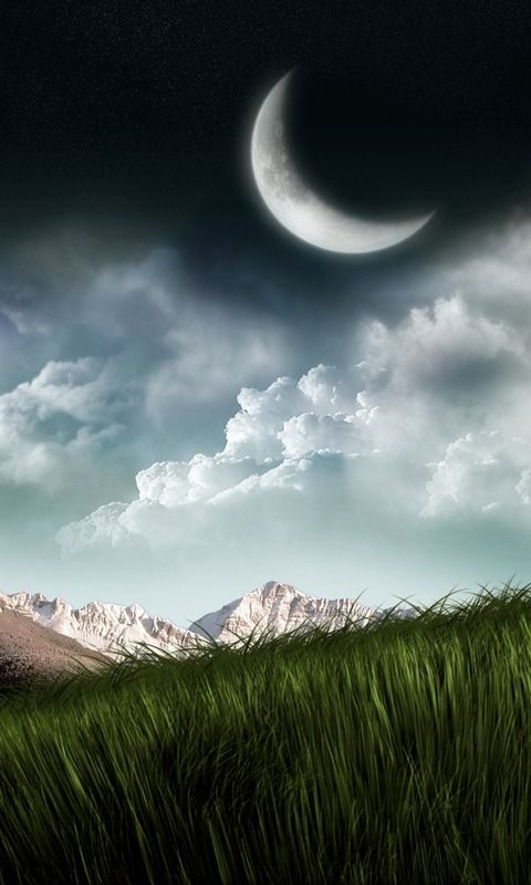 Tomas Lube Nature Wallpaper Landscape Good Night Moon