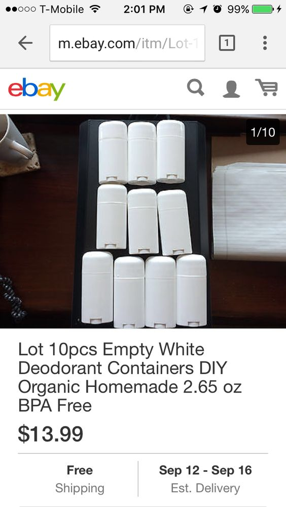 Empty deodorant containers to make deodorant.