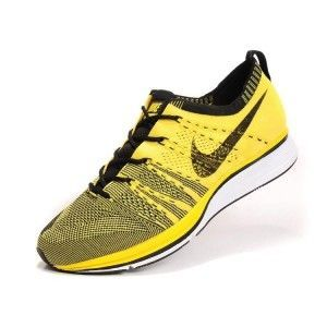 nike air max hyped chaussures de basket-ball - Homme Nike Flyknit Trainer+ Chaussures Jaune | sports shoes ...
