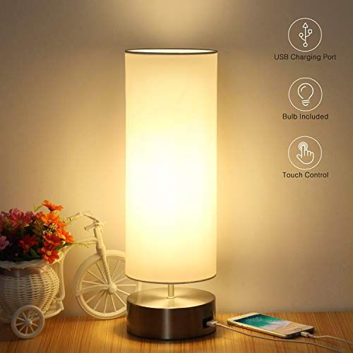 Usb Table Lamp Touch Control Bedside Nightstand Lamp Qui Https Www Amazon Com Dp B07hvd29pr Ref Cm Sw Nightstand Lamp Table Lamps For Bedroom Touch Lamp