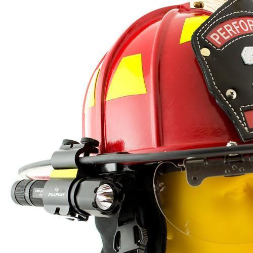 Foxfury Sideslide C Clamp Side Mounted Helmet Light In 2021 Helmet Light Fire Helmet Firefighter Helmet Light