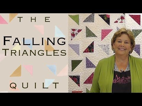 Falling Triangles Quilt - 1 solid layer cake, 1 print layer cake, 1 matching jelly roll solid