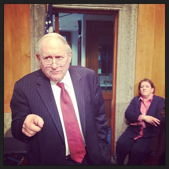 US Senator #Carllevin in interview after the #creditsuisse hearing in Congress
