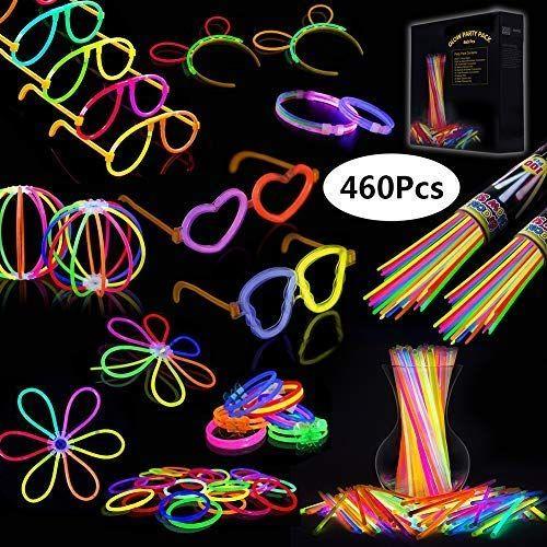 Josechan Pulseras Luminosas 200pcs De Fiesta 20cm 7 Colores Con