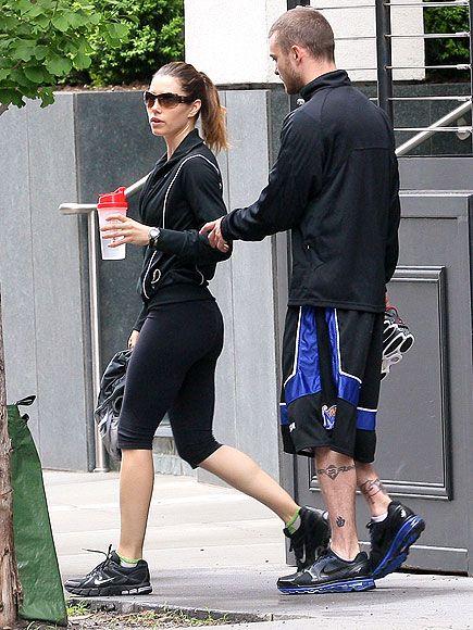 FITNESS DATE   Jessica Biel, Justin Timberlake