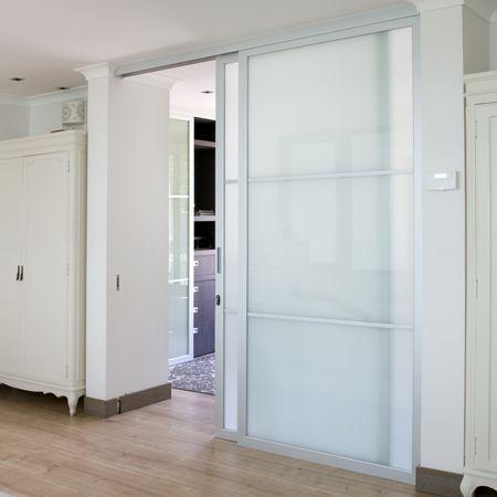 Perfil de aluminio anodizado color mate que permite armar - Puertas de aluminio con cristal ...