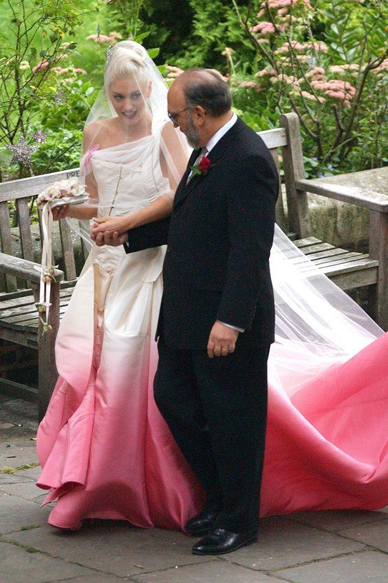 Gwen Stefani in Dior by John Galliano - The best celebrity wedding dresses of all time | Harper's Bazaar