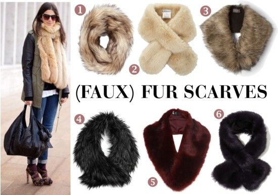 FAUX FUR Scarves: