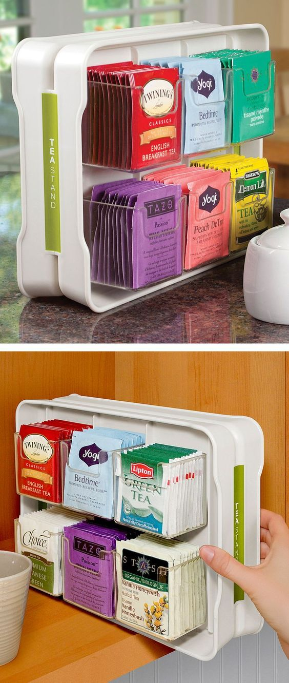 Tea Organizer Holds 100 Tea Bags For The Home