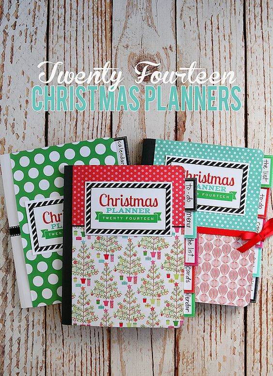 Christmas Planner - free printables to make your own Christmas Planner out of a composition notebook.: