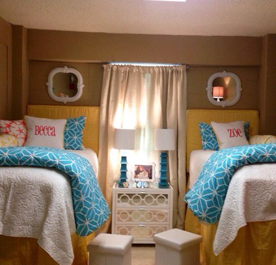 Dorm, Dorm room and Ole miss on Pinterest ~ 135947_Turquoise Dorm Room Ideas