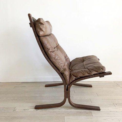 1960s Scandinavian Westnofa Siesta High Lounge Chair 725 Leather Detachable Cushions With Canva Vintage Furniture Design Vintage Furniture Lounge Chair