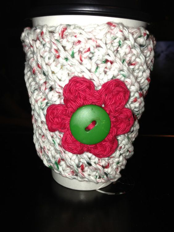 Crooked Cup Cozy by DRMDesigns on Etsy, $5.00