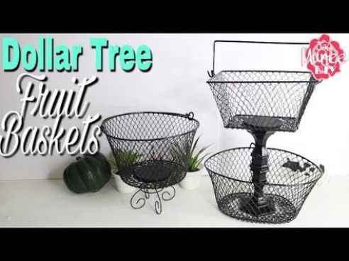 Dollar Tree Diy Fruit Basket Homedecorbasket Home Decor Basket Dollar