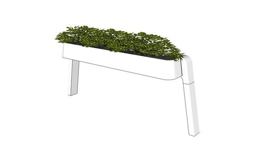 Large preview of 3D Model of Bivi® Holder with Planter on Short Arch