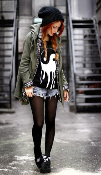 I love punk fashion. My style is usually all over the place and how I feel that day determines my style.