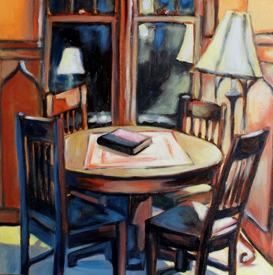 The Nook. Interior painting. Adria Moynihan.