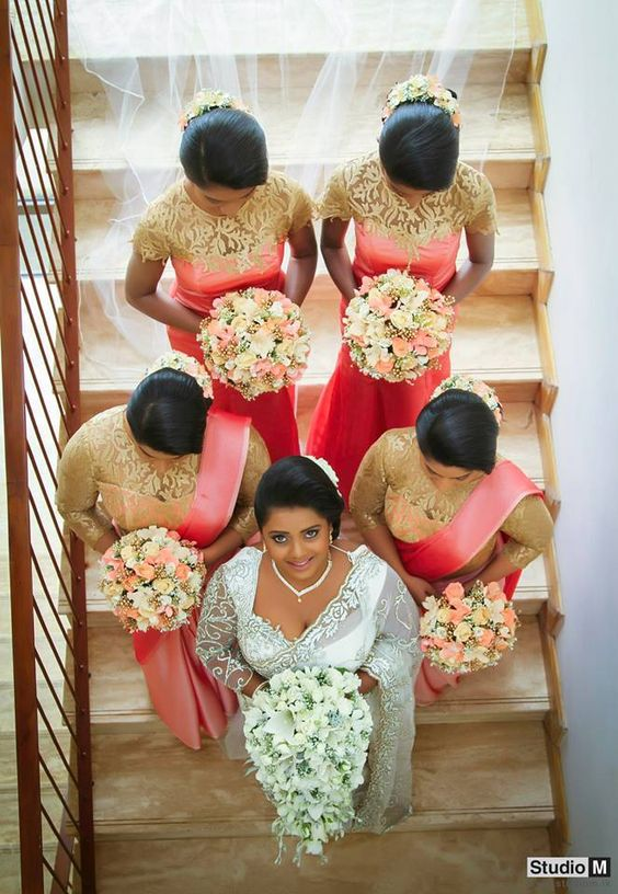 Himali sayurangi wedding day hairstyles