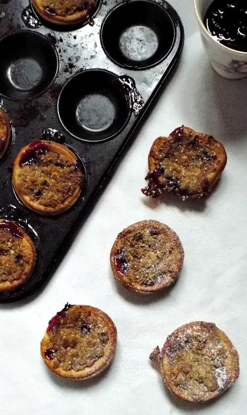 Crumble topped jam tarts