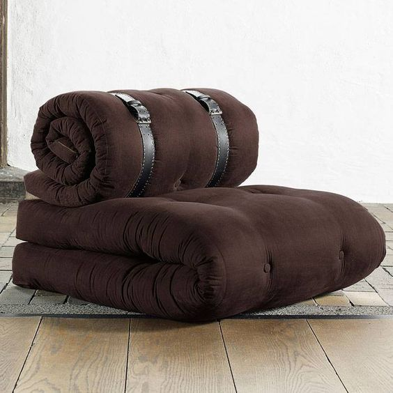 ♥ ♥ Buckle Up Sleeper Chair in Solid Chocolate ♥ ♥ - Discovered at www.dcgstores.com...