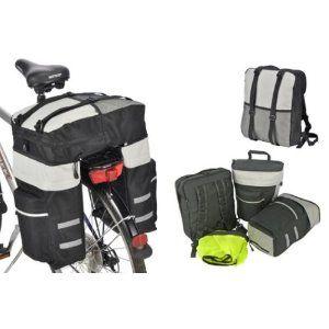 16,99€ Fahrrad-Gepäcktasche mit abnehmbarem Rucksack 2 großen u. 2 kleine Seitentaschen, 59 Liter   Art. - 63038