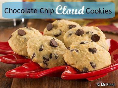 Chocolate Chip Cloud Cookies | Recipe | Healthy Cookie Recipes, Cloud ...