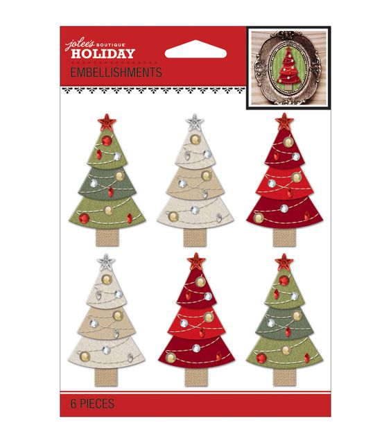 Jolee's Christmas Stickers-Christmas TreesJolee's Christmas Stickers-Christmas Trees,