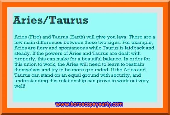 aries and taurus work relationship examples