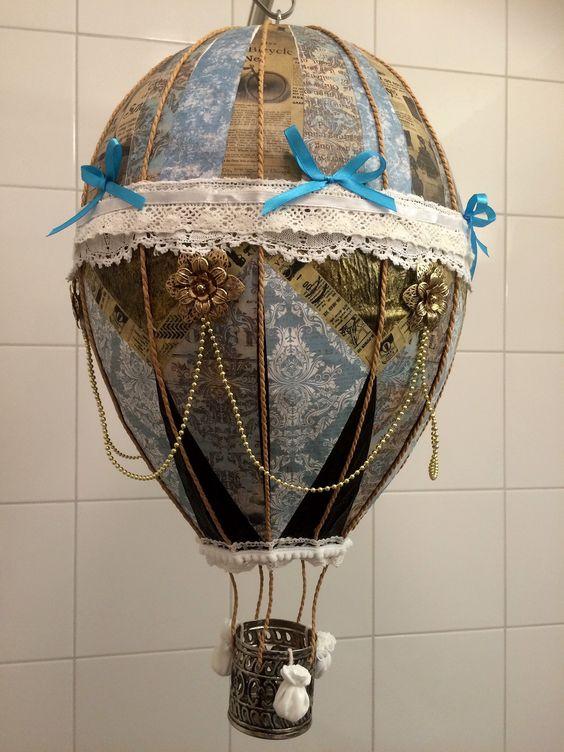 Papier Maché Hot Air Balloon, made by Alma