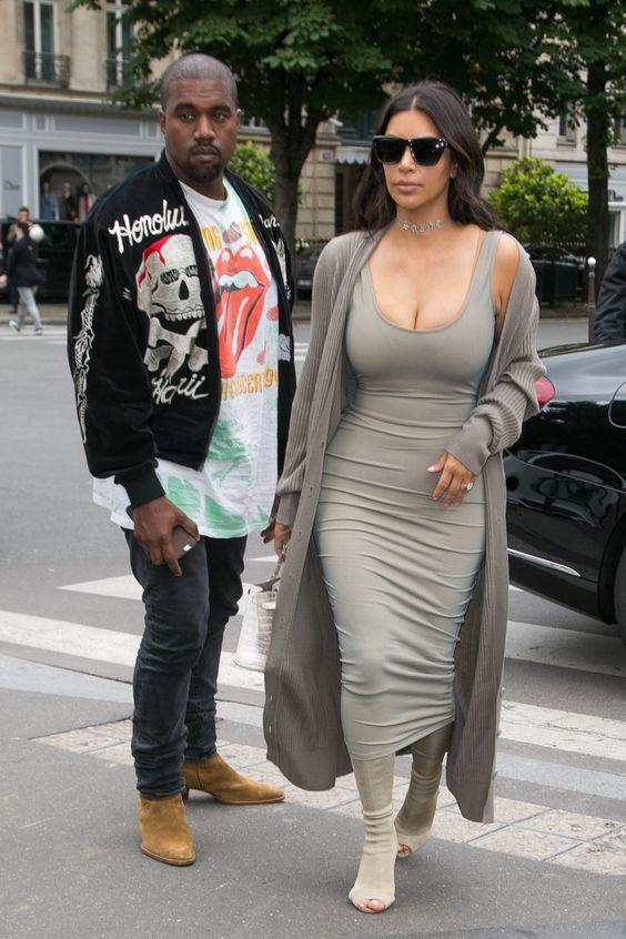 Here Is Kim Kardashian In a Pablo Swimsuit