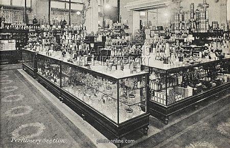 Harry Gordon Selfridge | Selfridges, London Opened in 1909 - Perfumery.Copyright © Mary Evans/Grenville ...