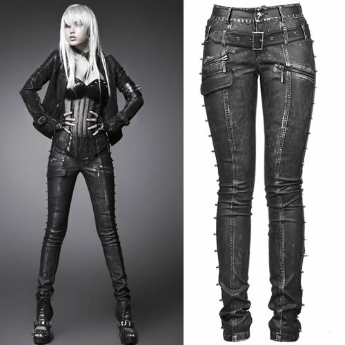 Luxury Home Gt Gothic Gt Black Denim Gothic Punk Pants For Women