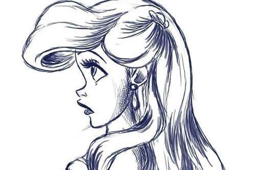 Ariel, the little mermaid drawing | artsy fartsy ...