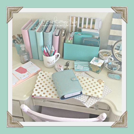 My beautiful mess... happy mail & a few planners hehehe @kikkik, @katespadeny , @websterspages , teresa collins studio gold