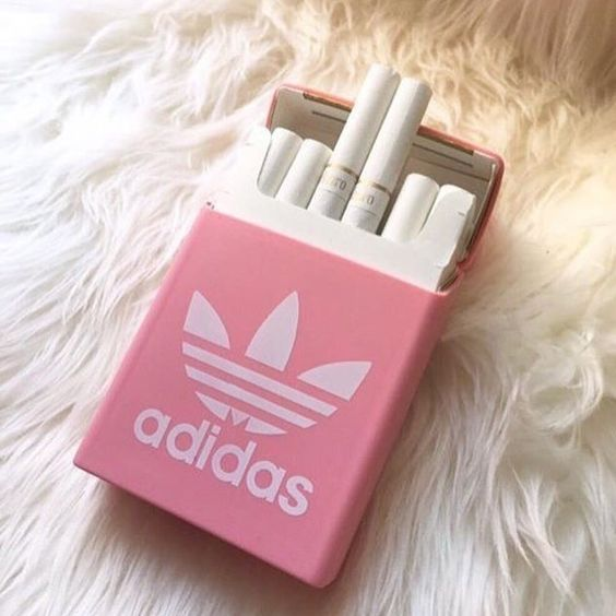Artist @watts.on #cigarette #adidas #pink #wattson #design #3d #sculpture #fur #arteurbano #streetart #graphicdesign #contemporaryart