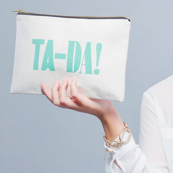 Ta-da Make Up Bag from Alphabet Bags on notonthehighstreet.com