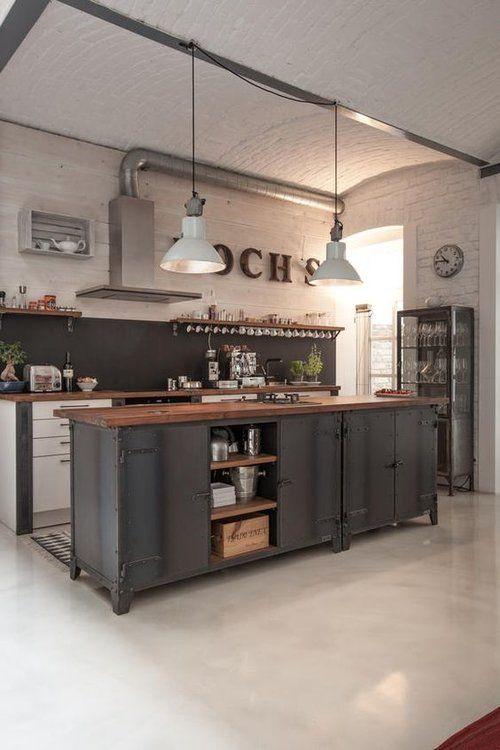 Pin De Ca Price En Painted Plywood Floors Cocina Estilo Industrial Cocinas De Casa Cocinas De Obra