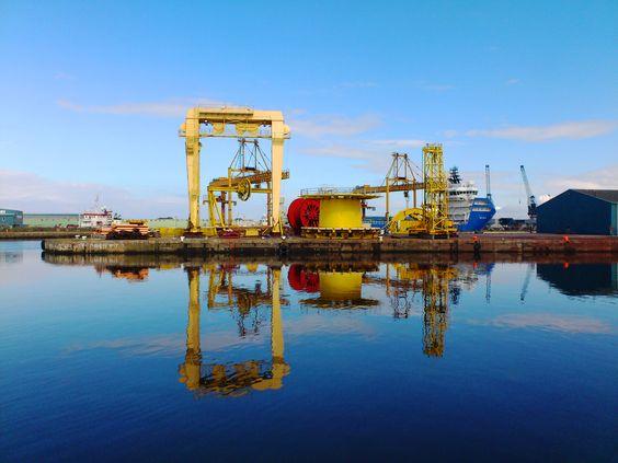 Leith docks in Edinburgh.....