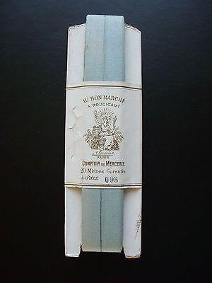 Ancien ruban publicitaire AU BON MARCHÉ 1900 couture mercerie fil aiguille