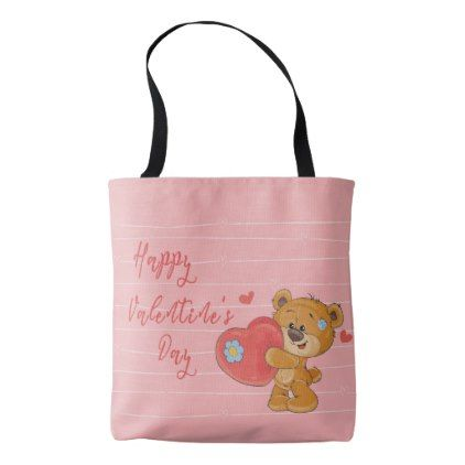 Cute Happy Valentine\'s day tote - valentines day gifts love couple ...