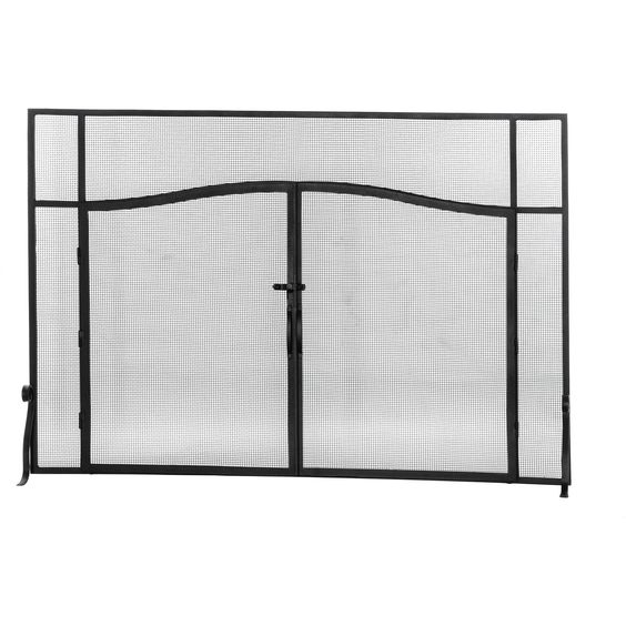 62 Inch W X 42 Inch H Prime Operable Door Arched Fireplace Screen ...