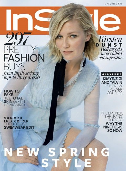 Kirsten Dunst for InStyle UK May 2016 cover - Erdem Spring 2016: